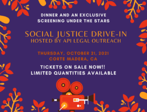 APILO Social Justice Drive In October 21 Tickets on sale now